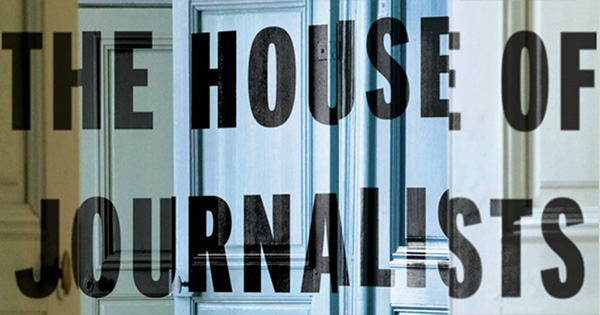 The front cover of The House of Journalists by Tim Finch
